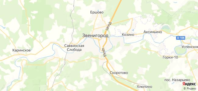 Базы отдыха Звенигорода - объекты на карте