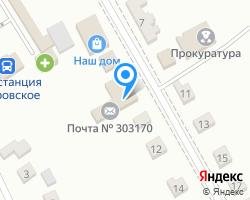 Схема местоположения почтового отделения 303170
