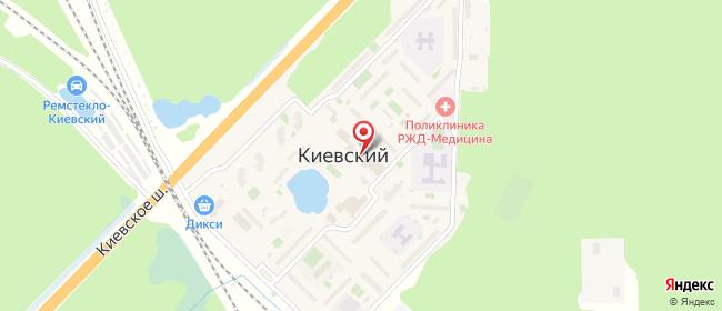 Карта расположения пункта доставки Халва в городе Киевский