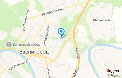 Местоположение на карте пункта техосмотра по адресу Московская обл, г Одинцово, г Звенигород, ул Парковая, д 18А