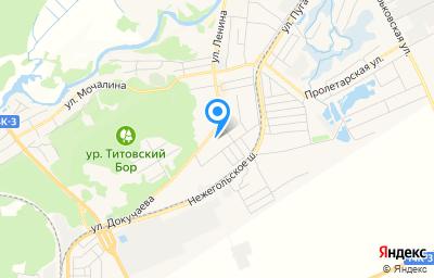 Местоположение на карте пункта техосмотра по адресу Белгородская обл, г Шебекино, ул Ленина, д 109А