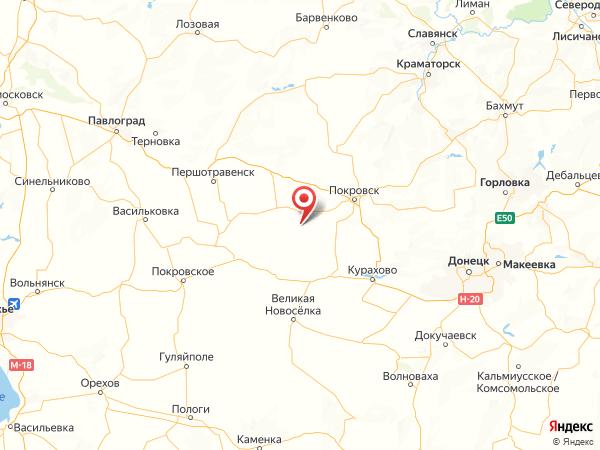 село Беляковка на карте
