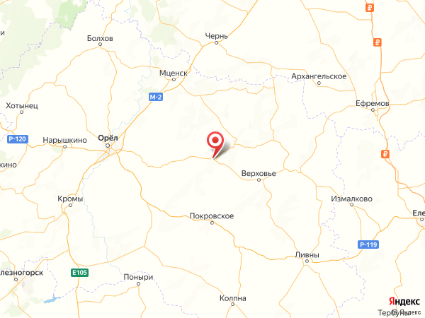 деревня Ореховка на карте