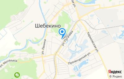 Местоположение на карте пункта техосмотра по адресу Белгородская обл, г Шебекино, ул Железнодорожная, д 1