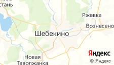 Гостиницы города Шебекино на карте