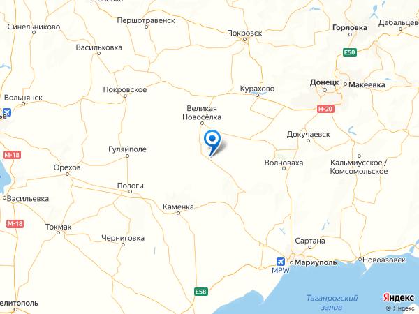 село Георгиевка на карте
