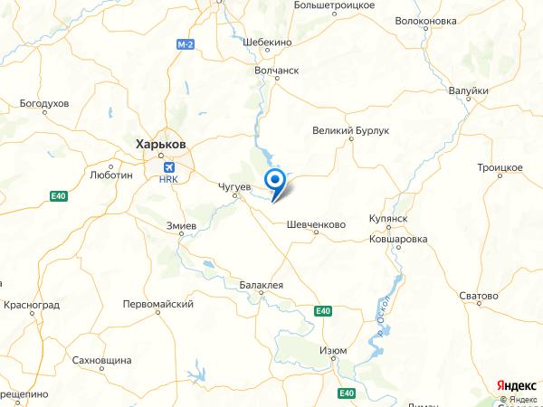 село Лебяжье на карте