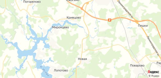 Мелечкино на карте