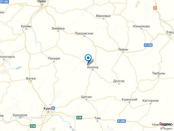 поселок Васильевка на карте