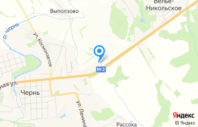 Местоположение на карте пункта техосмотра по адресу Тульская обл, рп Чернь, ул Свободная, д 114