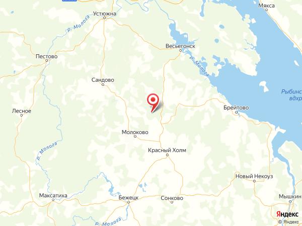 деревня Холм на карте
