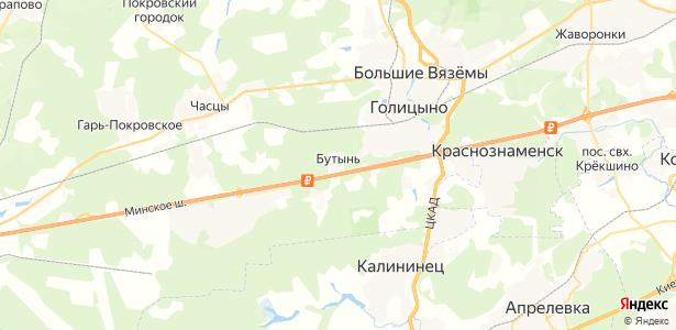 Бутынь на карте
