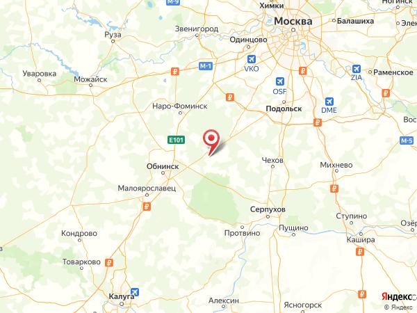 коттеджный посёлок Солнечная горка на карте