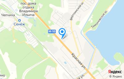 Местоположение на карте пункта техосмотра по адресу Московская обл, г Солнечногорск, мкр Рекинцо, ул Красная, стр 186Г