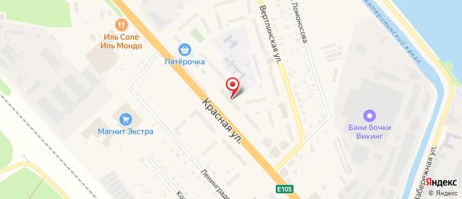 Карта расположения пункта доставки На Красной 176 в городе Солнечногорск