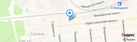 Почтовое отделение №143041 на карте Голицыно