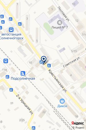ПРОДОВОЛЬСТВЕННЫЙ МАГАЗИН БАЗАР на карте Солнечногорска