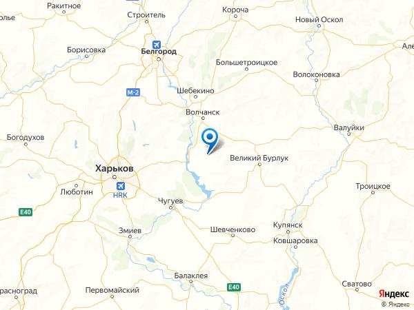 поселок Вишнёвое на карте