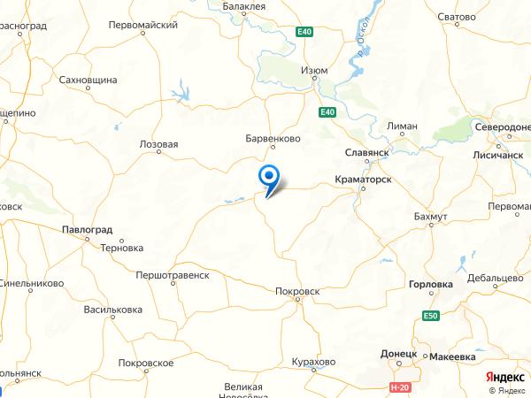 село Софьино-Лиман на карте