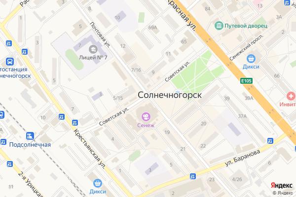 Ремонт телевизоров Город Солнечногорск на яндекс карте