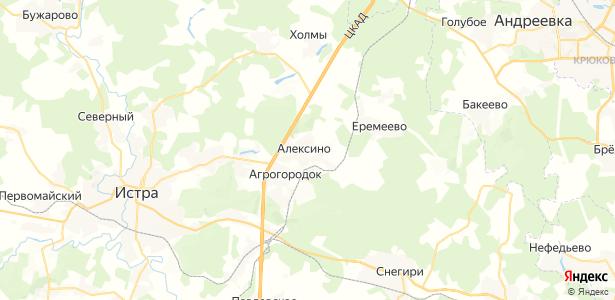 Алексино на карте