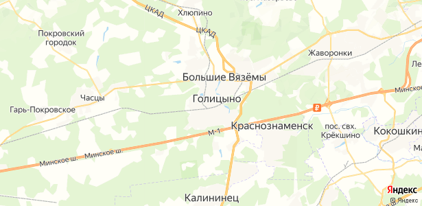 Голицыно на карте
