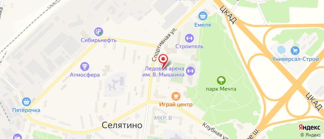 Карта расположения пункта доставки На Спортивной в городе Селятино
