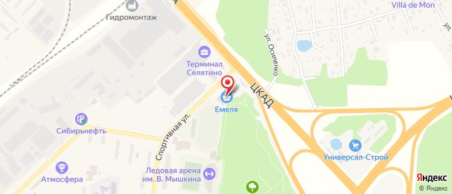 Карта расположения пункта доставки Селятино Спортивная в городе Селятино
