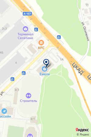 Гнездо сороки на карте Алабино