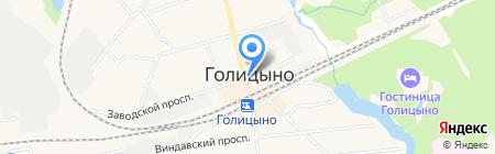 Магазин колбасных изделий на Привокзальной площади на карте Голицыно