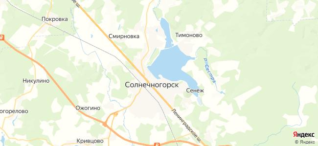 Гостиницы Солнечногорска - объекты на карте