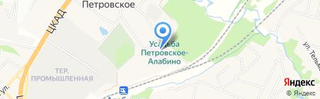 Петровская районная больница №3 на карте Алабино