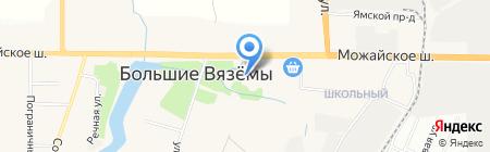 Большевяземская гимназия на карте Больших Вязёмов