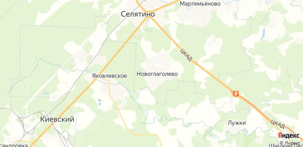 Новоглаголево на карте