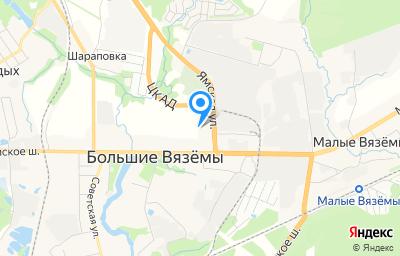 Местоположение на карте пункта техосмотра по адресу Московская обл, г Одинцово, рп Большие Вязёмы, влд 1