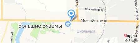 Киоск фастфудной продукции на карте Больших Вязёмов