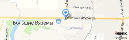 Киоск по продаже печатной продукции на карте Больших Вязёмов