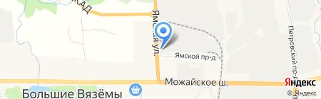 Камский кабель на карте Больших Вязёмов