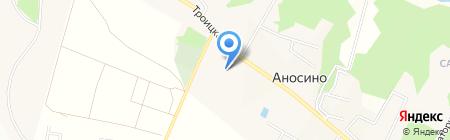 Борисоглебский Аносин женский монастырь на карте Аносино