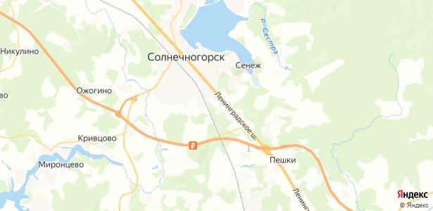 Рекино-Кресты на карте