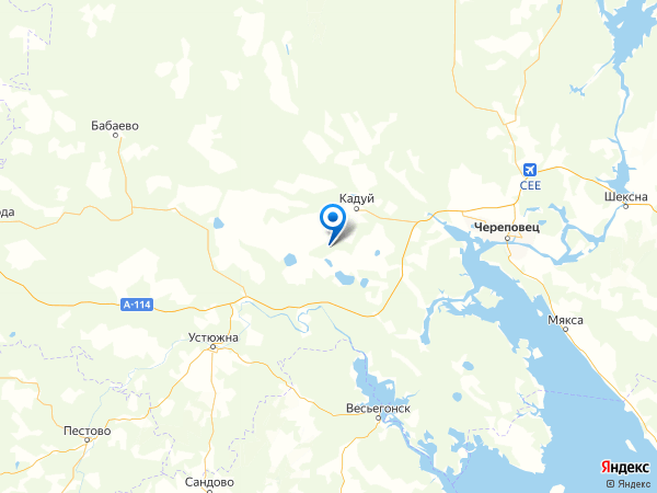 деревня Вершина на карте