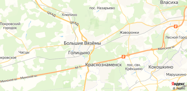 Малые Вязёмы на карте