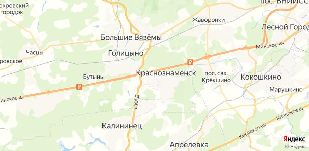 Краснознаменск на карте