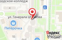 Схема проезда до компании Витраж в Краснознаменске