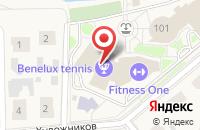 Схема проезда до компании Fitness One в Воронино
