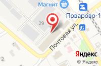 Схема проезда до компании Миш мед в Поварово