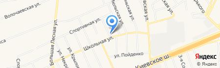 Луч на карте Апрелевки