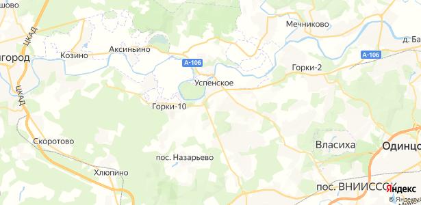 Успенское на карте
