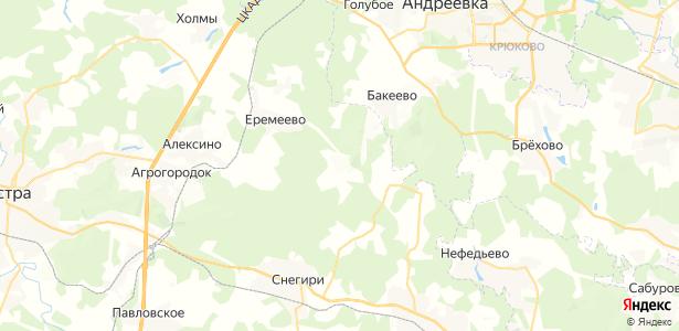 Хованское на карте