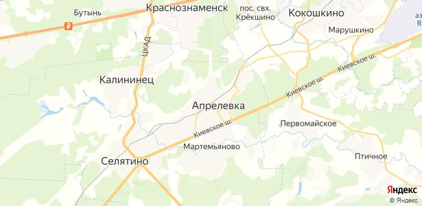 Апрелевка на карте